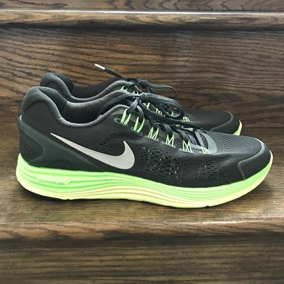 Men's Nike Lunarglide + 4 BlackVolt Running Shoes